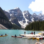 Moraine Lake in the Alberta Rockies