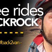 Gee rides slickrock in Moab, Utah