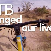 Mountain Biking Changed Our Lives title graphic.